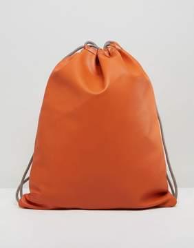 Mi-Pac Exclusive Burnt Orange Tumbled Drawstring Kit Bag