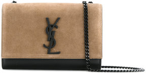 Saint Laurent Kate Monogram satchel bag - BROWN - STYLE