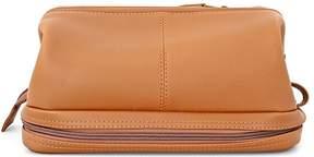 Royce Leather Executive Toiletry Travel Wash Bag - Tan