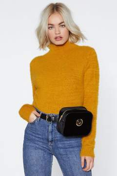 Nasty Gal Lose Touch Velvet Fanny Pack
