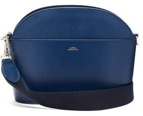 A.P.C. Gabrielle Leather Cross Body Bag - Womens - Blue Navy