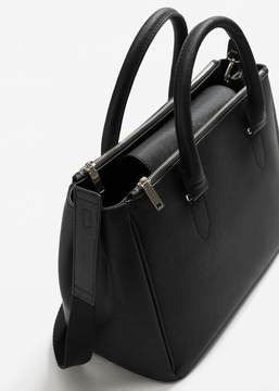 MANGO Saffiano-effect shopper bag