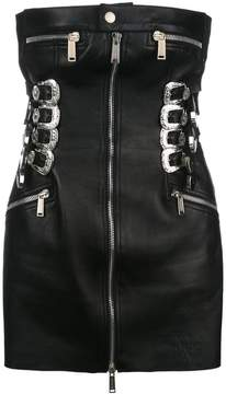 DSQUARED2 buckle and zip tube dress