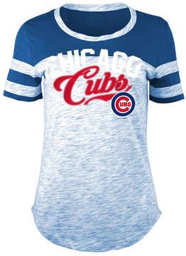 5th & Ocean Women's Chicago Cubs Space Dye Cb Yoke T-Shirt