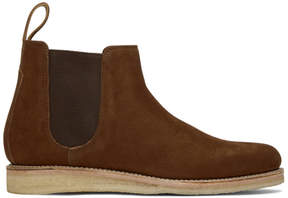 Grenson Brown Nubuck Heath Chelsea Boots