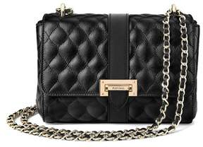 Aspinal of London Small Lottie Bag In Black Quilted Kaviar