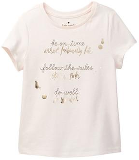 Kate Spade resolution tee (Toddler & Little Girls)