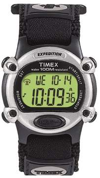 Timex Unisex Expedition Digital Fast Wrap Velcro Strap Watch Black/Silver T47852