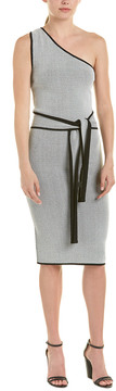 C/Meo Collective No Business One-Shoulder Knit Sheath Dress