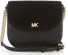MICHAEL Michael Kors Half Dome With Suede Flap Cross-Body Bag