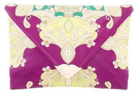 Etro Printed Leather Clutch