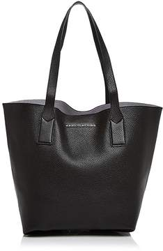 Marc Jacobs Wingman Metallic Interior Leather Tote - BLACK/SILVER/SILVER - STYLE