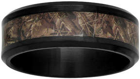 JCPenney MODERN BRIDE Mens Black Ceramic and Camo Inlay 8mm Comfort Fit Wedding Band