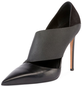 Balmain Audrey Asymmetric Leather 100mm Pump, Black