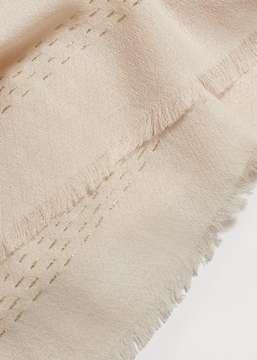Violeta BY MANGO Textured cotton scarf