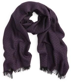 Canali Men's Chevron Wool Scarf