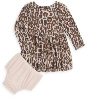 Splendid Baby Girl's Two-Piece Leopard Dress & Bloomer Set
