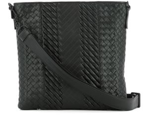 Bottega Veneta Black Leather Shoulder Bag