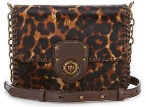 Lauren Ralph Lauren Leopard Haircalf Cross-Body Bag