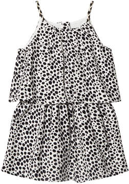 Ikks Black and White Spot Tiered Sun Dress