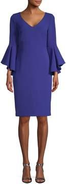 Badgley Mischka Women's Ball Sleeve Sheath Dress