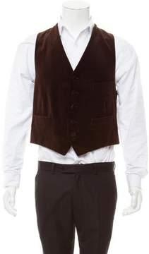 Band Of Outsiders Velvet Button-Up Vest