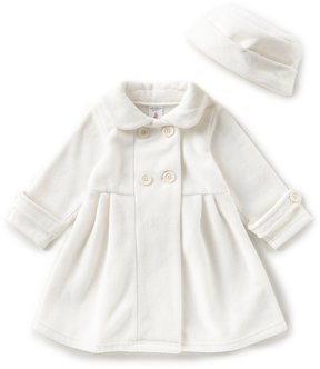 Starting Out Baby Girls 12-24 Months Flower Back Peacoat Jacket