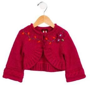 Catimini Girls' Heavy Embroidered Cardigan