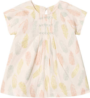 Mini A Ture Noa Noa Miniature Sand Dollar Feather Print Embroidered Dress