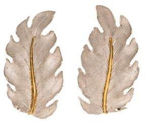 Buccellati 18K Leaf Earclips