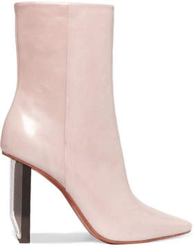 Vetements Leather Ankle Boots - Taupe