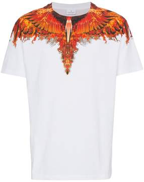Marcelo Burlon County of Milan T Shirt with flame wing detail