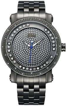 JBW Hendrix Gunmetal-Plated Diamond Men's Watch