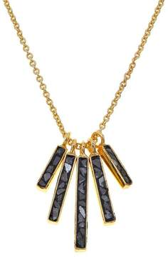 Black Diamond Collections by Joya Deco Fan Drop Necklace with Shards