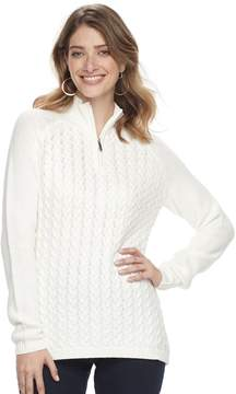 Croft & Barrow Women's 1/4 Zip Textured Sweater