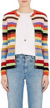 Barneys New York Women's Metallic-Detailed Striped Cashmere Cardigan