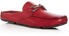 Salvatore Ferragamo Men's Duca 2 Leather Moc Toe Driver Mules