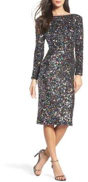 Dress the Population Women's Emery Ombre Sequin Body-Con Dress