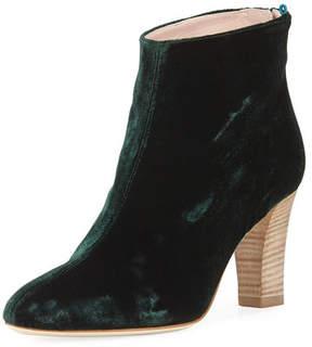 Sarah Jessica Parker Minnie Velvet 75mm Ankle Bootie