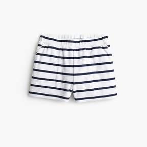 J.Crew Girls' striped terry short