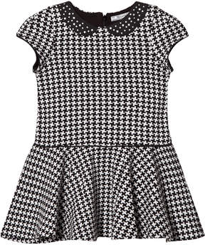 Mayoral Grey and Black Houndstooth Dress