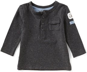 Robeez Baby Boys Newborn-24 Months Speckled Long-Sleeve Shirt