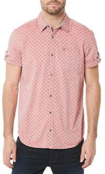 Buffalo David Bitton Short Sleeve Printed Button-Down Shirt