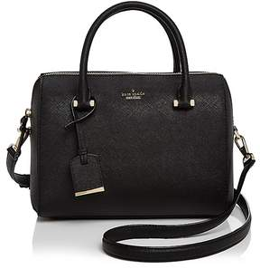 Kate Spade Cameron Street Lane Leather Satchel - BLACK/GOLD - STYLE