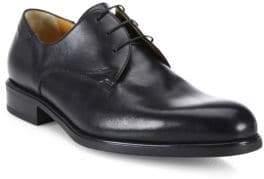 a. testoni Derby Nappa Leather Oxfords