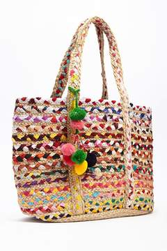 Forever 21 Colorful Woven Tote
