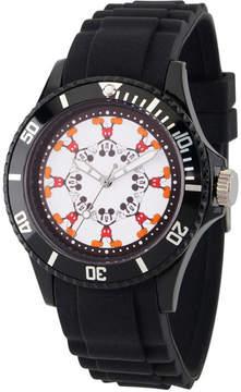 Disney Mickey Mouse Mens Black Strap Watch-Wds000365