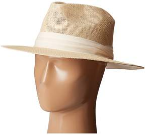 San Diego Hat Company PBF7308 Woven Paper Fedora Hat with Twill Trim Fedora Hats