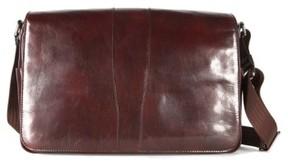 Bosca Men's Leather Messenger Bag - Brown