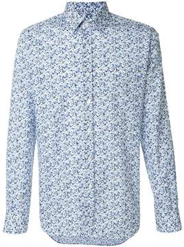 Canali printed style shirt